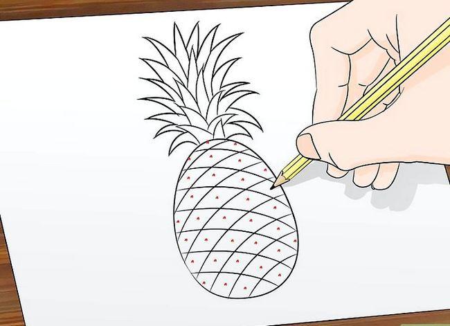 Titel afbeelding Draw a Pineapple Step 7