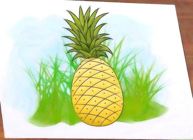 Titel afbeelding Draw a Pineapple Step 9