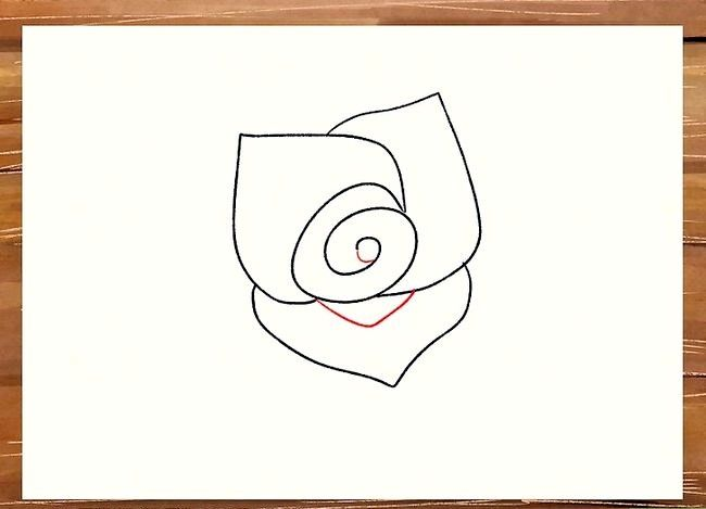 Titel afbeelding Draw a Rose Step 15