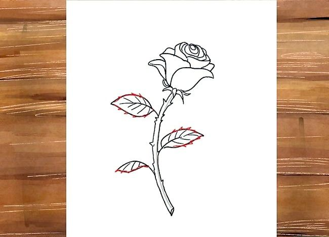 Titel afbeelding Draw a Rose Step 28