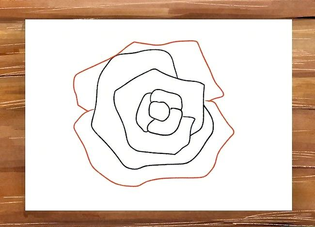Titel afbeelding Draw a Rose Step 7
