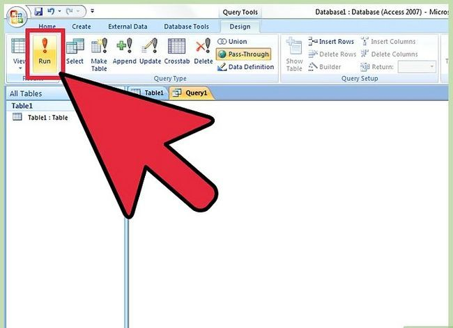 Titel afbeelding Run a Query in MS Access 2007 Step 9