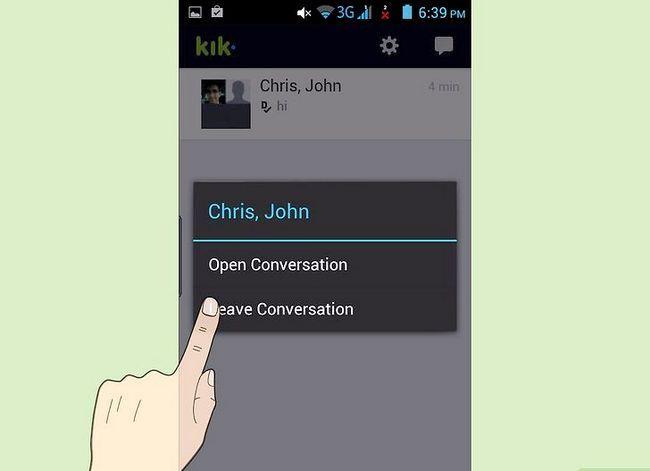 Titel afbeelding Delete Conversations on Kik Step 3