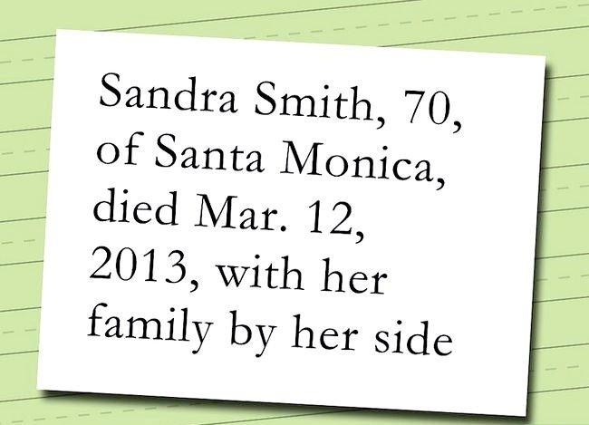 Titel afbeelding Write a Obituary Step 5