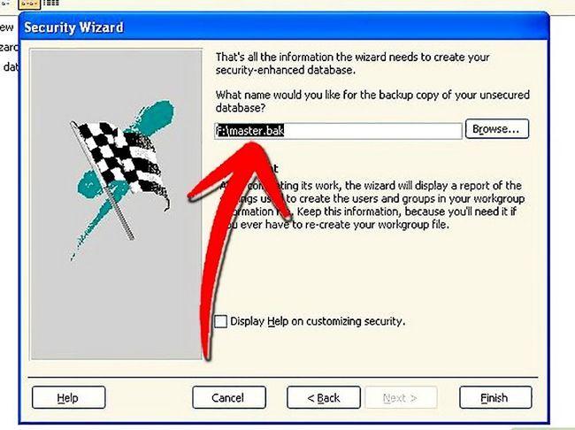 Titel afbeelding Establish User Level Security in Microsoft Access Step 11