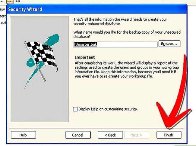 Titel afbeelding Establish User Level Security in Microsoft Access Step 12
