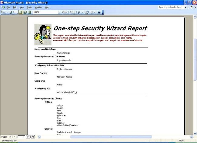 Titel afbeelding Establish User Level Security in Microsoft Access Step 12Bullet1