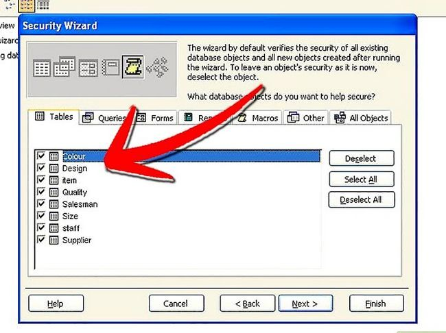 Titel afbeelding Establish User Level Security in Microsoft Access Step 5Bullet1