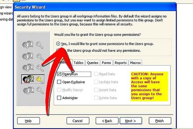 Titel afbeelding Establish User Level Security in Microsoft Access Step 7Bullet1
