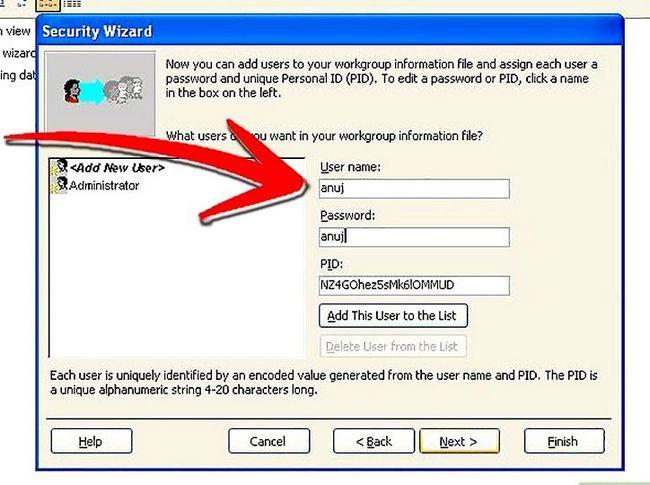 Titel afbeelding Establish User Level Security in Microsoft Access Step 8