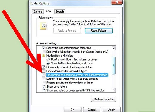 Titel afbeelding Unhide Folders in Windows 7 Step 4