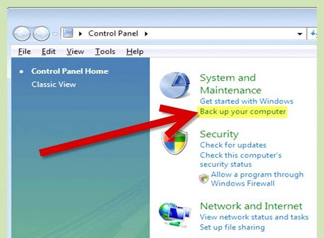 Titel afbeelding Backup Your Computer in Windows Vista Stap 2
