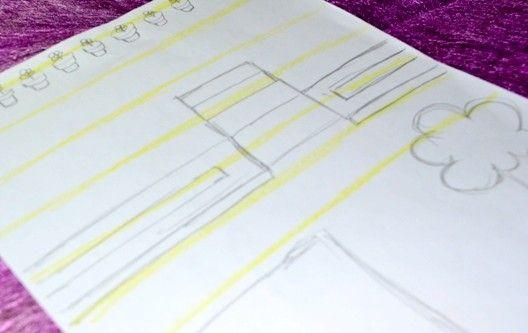 Titel afbeelding Draw yellow lines Step 2