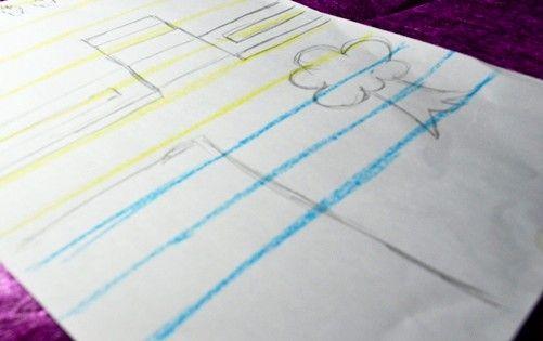 Titel afbeelding Draw blue lines Step 3