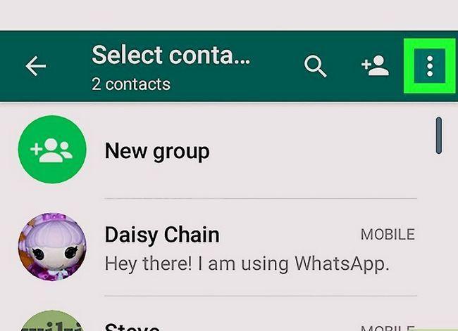 Titel afbeelding Contacten importeren op WhatsApp op Android Stap 3