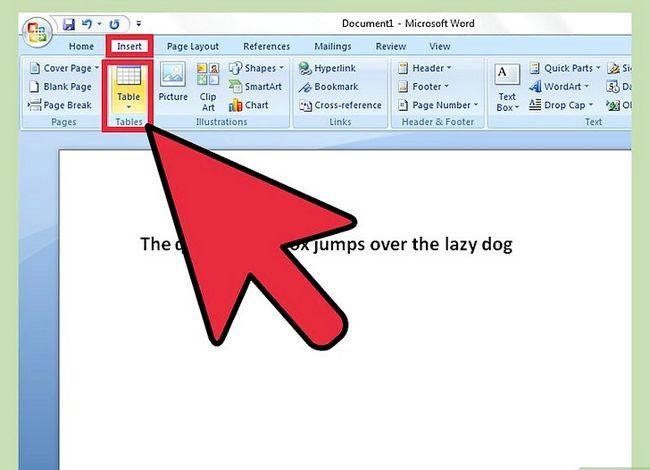 Titel afbeelding Een tabel invoegen in een Microsoft Word-document Stap 2
