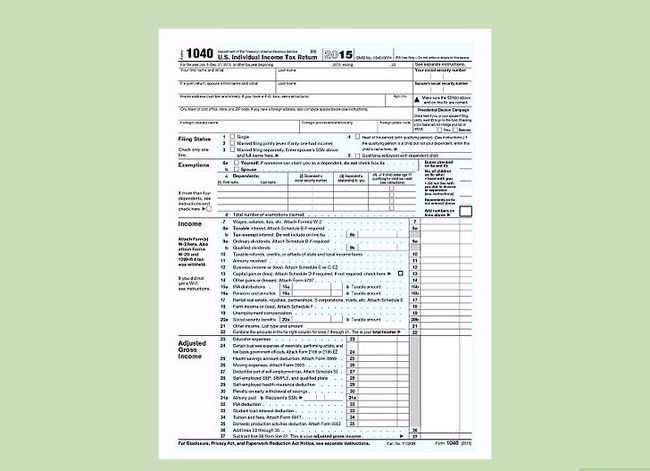Titel afbeelding Fill out IRS Form 1040 Step 1