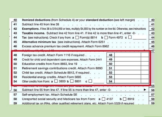 Titel afbeelding Fill out IRS Form 1040 Step 20