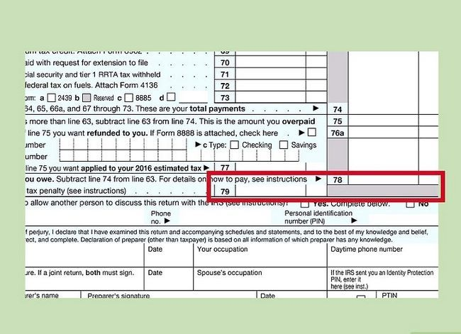 Titel afbeelding Fill out IRS Form 1040 Step 25