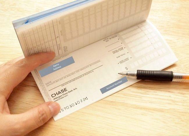 Hoe vult u een chequebewijs in