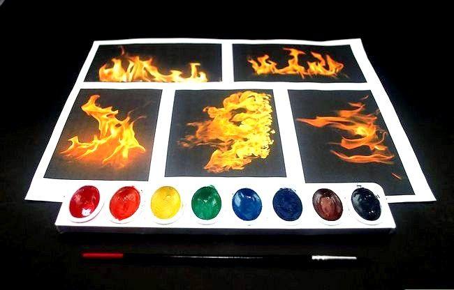 Hoe vuur te schilderen