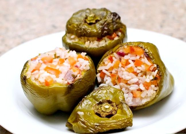 Titel afbeelding Make Stuffed Capsicums of Bell Peppers Final