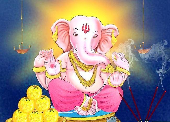 Titel afbeelding Pray to the Hindu God Ganesh Step 3