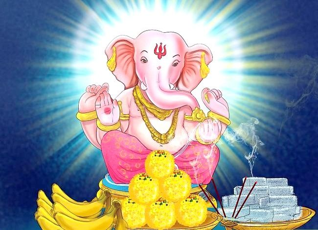 Titel afbeelding Pray to the Hindu God Ganesh Step 6