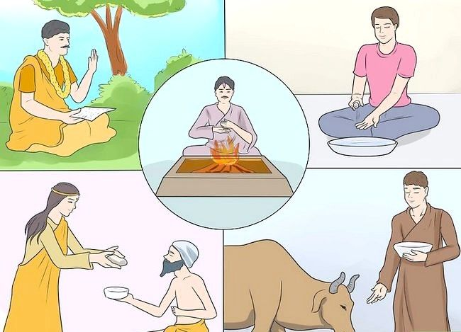 Titel afbeelding Be a Hindu Step 14