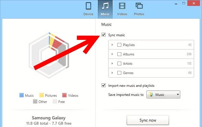 Titel afbeelding Transfer Music from iTunes to Galaxy S4 Step 5