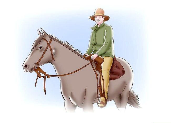 Titel afbeelding Post While draven op een paard Stap 5