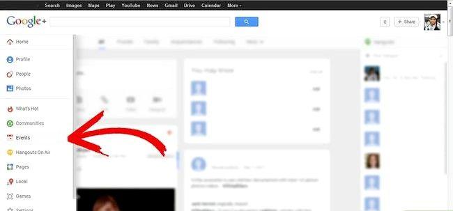 Gebeurtenissen gebruiken in Google Plus