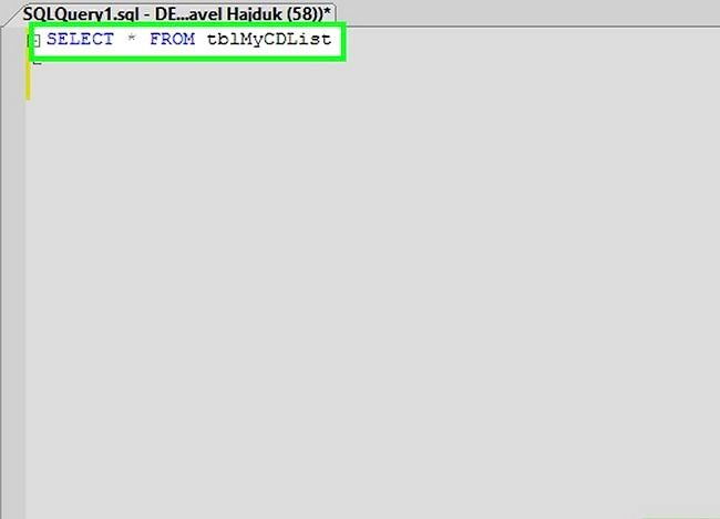 Titel afbeelding Use SQL Step 3