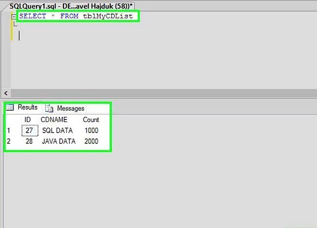 Titel afbeelding Use SQL Step 4