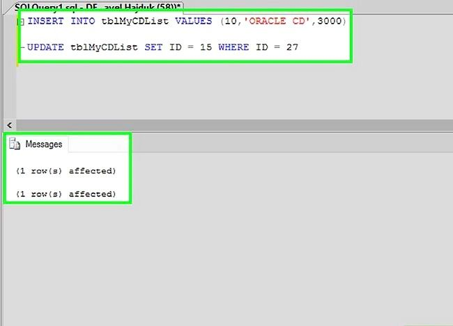 Titel afbeelding Use SQL Step 7