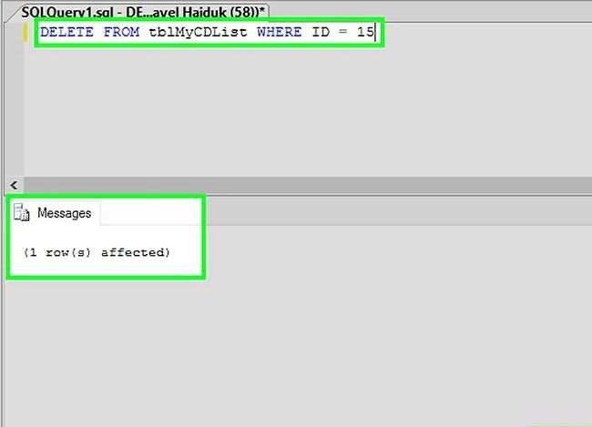Titel afbeelding Use SQL Step 8