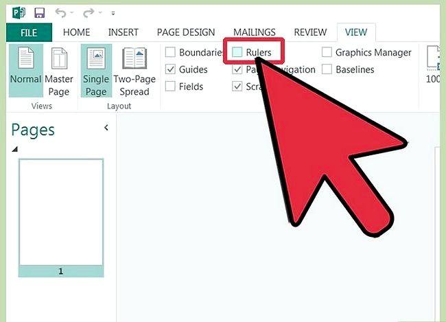 Hoe de regels in Microsoft Publisher te gebruiken