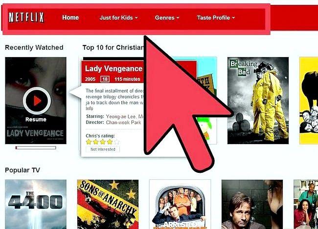 Titel afbeelding Watch Movies Online met Netflix Step 1