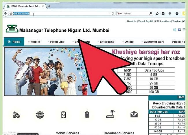 Titel afbeelding Check Internet Data Usage in MTNL Stap 1