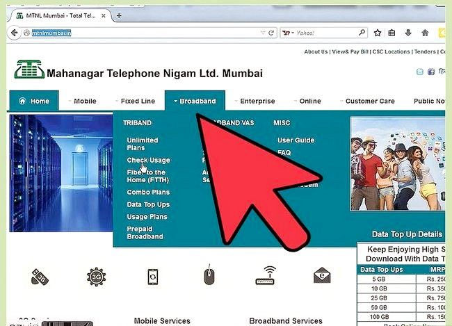 Titel afbeelding Check Internet Data Usage in MTNL Stap 2