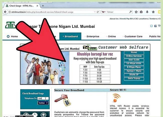 Titel afbeelding Controleer internetgegevensgebruik in MTNL Stap 3