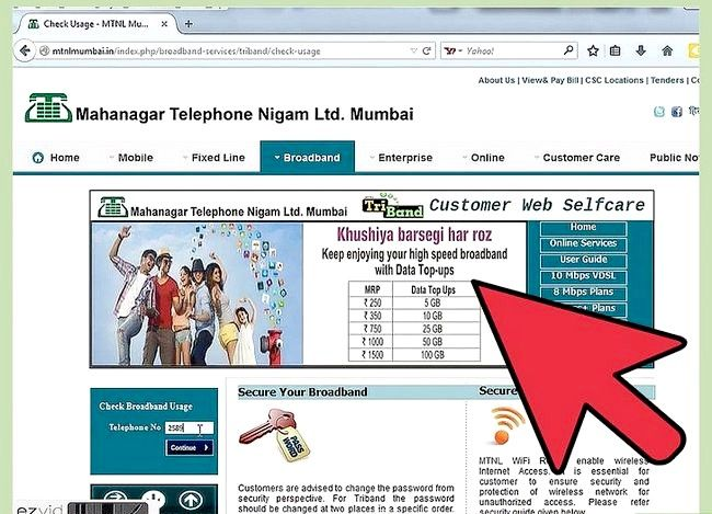Titel afbeelding Check Internet Data Usage in MTNL Stap 4
