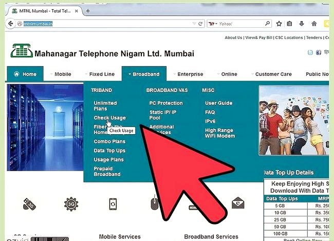 Titel afbeelding Check Internet Data Usage in MTNL Stap 5