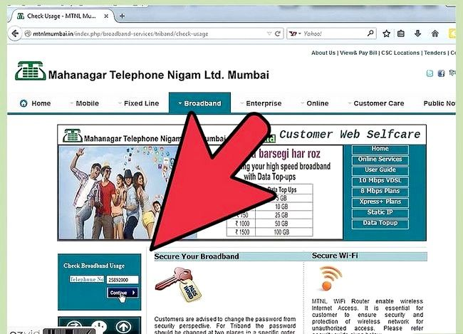 Titel afbeelding Check Internet Data Usage in MTNL Stap 6