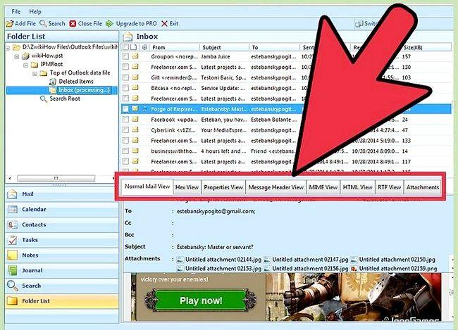 Titel afbeelding View a PST File Without Outlook geïnstalleerd Gebruiken met PST File Viewer Stap 6